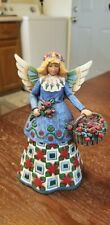 """Jim Shore """"Angel With A Basket"""" 2002 Used C105169"""