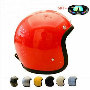 T500TX T&CO 3/4 Helmet Japan New Style Motorcycle Helmet with Googles Vintage