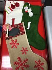 Choice of Stocking Burlap w/Chalkboard - Green or White Sweater