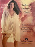 EXPLORE THE LANGUAGE OF LINGERIE 1999 COLESCE COUTURE LINGERIE Catalog