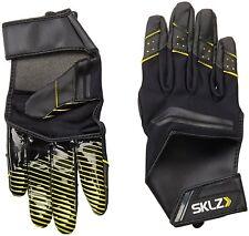 SKLZ Football Receiver Training Gloves sz M Medium Black Yellow Open Palm