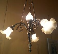 Chandelier Bronze 4 Lights XIX Century
