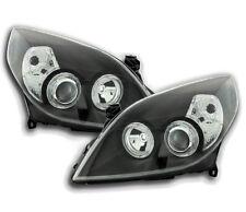 Vauxhall / Opel Vectra C 2002-2005 Black Angel Eyes Headlights Pair RHD/LHD