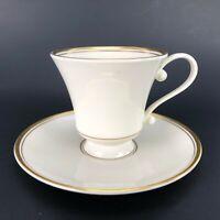 Edgerton Contessa Gold Coffee Cup/ Teacup & Pickard saucer China IVORY GOLD