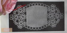 Vintage Bread Tray Doily Tatting Pattern. Finished Size 5 ½ x 10 ½ inches