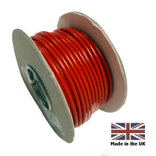 5 METERS RED  6mm - 50 AMP THIN WALL AUTO CABLE WIRE FOR CAMPERVAN MOTORHOME