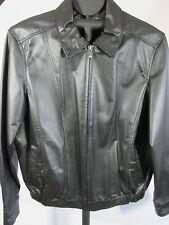 M Julian Wilson's Men's Leather Black Racer Jacket Lined Full Zip Front New M