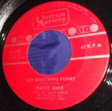 MB607 Patty Duke Say Something Funny / Funny Little Butterflies 45 RPM Record
