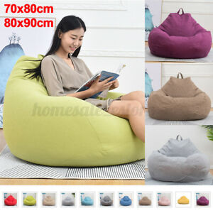Large Bean Bag Chairs Couch Sofa Cover Indoor Garden Lazy Lounger For