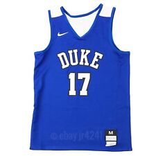 New Nike Boy's M Duke Blue Devils Elite Reversible Basketball Jersey Blue White