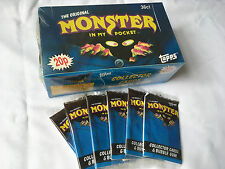 MONSTER IN MY POCKET SERIES 1 TOPPS OFFICIAL MATCHBOX CARD PACKS MIMP 1991 RETRO