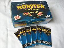 MONSTER nella mia tasca Serie 1 TOPPS UFFICIALE MATCHBOX Card Pack confezione 1991 Retrò