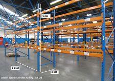 3 Bays Dexion Speedlock Warehouse Pallet Racking 3.6M Tall x 2.25M Bays