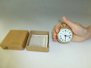 Vintage Travel Alarm Pocket Watch With Original Box And Papaer (Watch The Video)