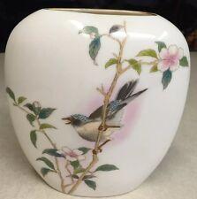 Beautiful Vintage Kakesu Japanese Vase With Bird, Wonderful Pattern Ret $45