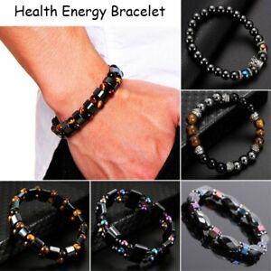 Charm Hematite Natural Energy Stone Bangle Men Women Bracelets Jewelry Gifts Hot