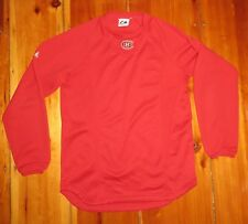 MAJESTIC Mens Montreal Canadiens Hockey Red NHL thermal Pullover SZ S