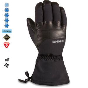 2020 Men's Dakine Excursion Leather Gore Tex  Ski Gloves Size 9 Large Black