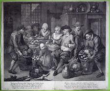 GÄRTNER ERNTE grossformatiger Original-Kupferstich um 1770 Original!