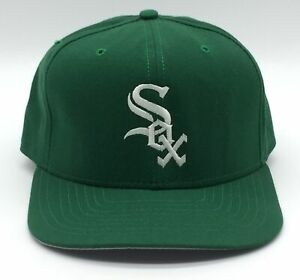 CHICAGO WHITE SOX RARE GREEN DOME SnapBack MLB Hat Cap New Era Made In The USA