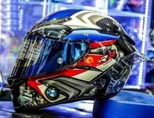 Rossi BM W Pista S1000RR Tricolore GPR Race Motorcycle Full Face Helmet New 2021