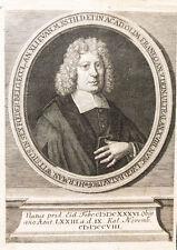 c1720 Witsius Wits Hermann Theologe Kupferstich-Porträt