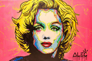 Alec Monopoly Oil Painting on Canvas  art Decor,Marilyn Monroe, 2017 48×72inch