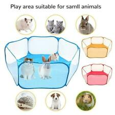 Small Animals Cage Tent Guinea Pig Rabbits Hamster Pet Fence Playpen Y3Q6