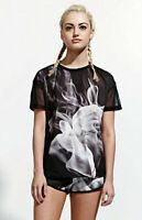 adidas Originals Women's Rita Ora French Terry Smoke Print T-Shirt Tee S23562