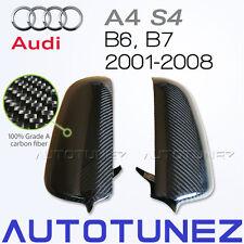 New Carbon Fiber Car Side Mirror Cover For Audi A4 S4 B6 B7 Vacuum Bagging Black