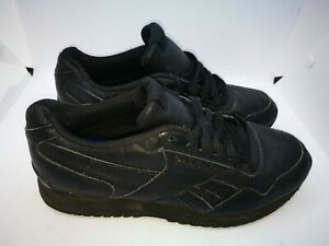 Reebok black casual trainers size 6