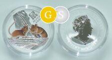 1 Ounce Silver BU Lunar III Maus Mouse Color Farbe Australien 2020 Australia