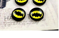 BATMAN CABOCHON GLASS STUD EARRINGS 12MM