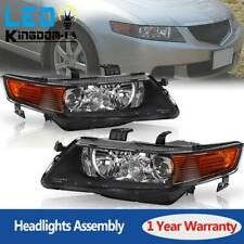 For 2004 2005 06 07 2008 Acura TSX Projector Headlights Pair HID Xenon Headlamps