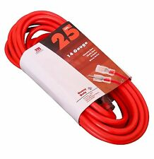 25-Ft Extension Cord 14 Gauge Lit End AWG Heavy Duty UL NEW 14/3 25 Foot Feet