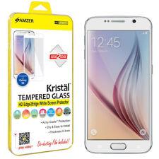 AMZER Tempered Glass HD Edge2Edge White Screen Guard For Samsung Galaxy S6 G920F