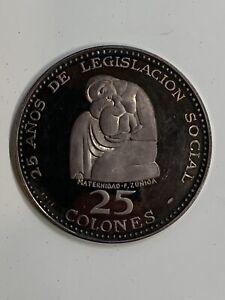1970 Republica De Costa Rica SILVER 25 Colones Proof Coin**Big Silver Coin 53.9g