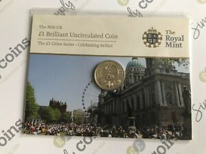 2010 CITIES ~ BELFAST ~  ONE 1 POUND COIN IN ORIGINAL ROYAL MINT PACK RARE