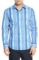 Bugatchi Shaped Fit Stripe Sport Shirt NWT M, LAST ONE