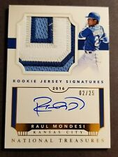 RAUL MONDESI RC RPA PATCH AUTO /25 2016 NATIONAL TREASURES - KANSAS CITY ROYALS