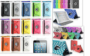 iPad mini 1 2 3 360 Degree Rotating Stand PU Leather Case For Apple Protector