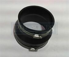 """4"""" Rubber Coupling 110mm PVC Soil Drain Pipe Coupler -Repair Fitting With Clips"""