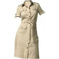 BRANDNEW VAN HEUSEN belted button-down safari dress khaki, sz8