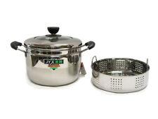 6 QT 24 cm Vegetable / Dim Sum Steam Pot Steamer Rack Stainless Steel Silver JW