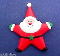 Hallmark PIN PENDANT Christmas Vintage SANTA STAR Sheriff Holiday Brooch