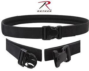 """Black Triple Retention Tactical Duty Belt - 2"""" Law Enforcement Hook & Loop Belts"""