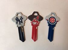 Lot 3 Keys MLB House or Office Blank SC1 Schlage- 1 Yankees 1 Cubs 1 Indians