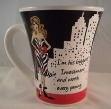 """I'm His Biggest Investment and Worth Every Penny"" Coffee Mug Comical Cup Delish"