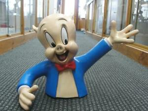 1990S WARNER BROTHERS STORE DISPLAY PORKY PIG BUST LIFESIZE STATUE