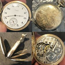 POCKET WATCH ELGIN 16s 15j RUNNING  ILLINOIS WATCH CASE COMPANY ELGIN  #83C